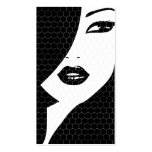 BLACK & WHITE PATTERNED GIRL Business Card