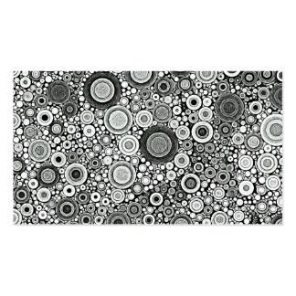 Black & White Patterns   Circles I Business Cards