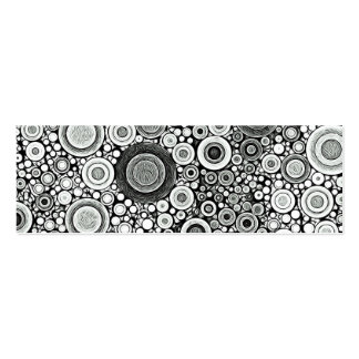Black & White Patterns   Circles I Business Card Templates