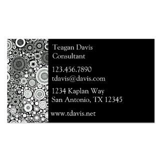 Black & White Patterns   Circles I Business Card