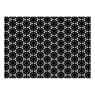 Black & White Patterns   Hexagons I Chubby Business Cards