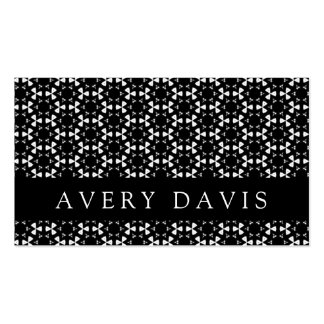 Black & White Patterns   Hexagons I Standard Business Cards