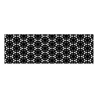 Black & White Patterns   Hexagons I Skinny Business Cards