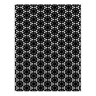 Black & White Patterns | Hexagons I Post Card