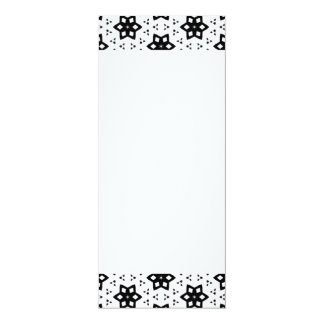 Black & White Patterns | Hexagons III 10 Cm X 24 Cm Invitation Card