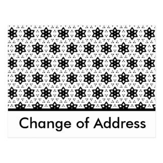 Black & White Patterns | Hexagons III Postcard