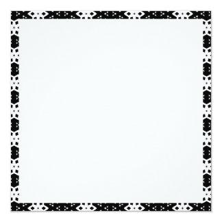 Black & White Patterns | Hexagons IV 13 Cm X 13 Cm Square Invitation Card