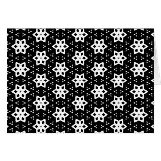 Black & White Patterns | Hexagons IV Greeting Card