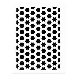 Black & White Patterns   Hexagons VI Postcard