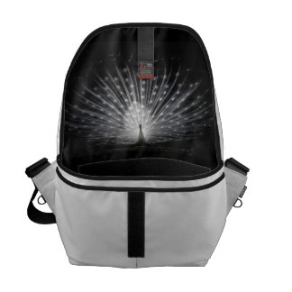 Black & White Peacock Bag Commuter Bags