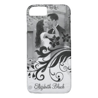 Black White Photo Template Floral iPhone 8/7 Case