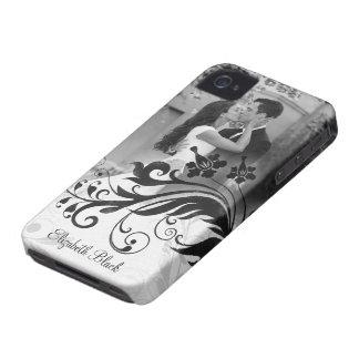 Black White Photo Template iPhone 4 Case