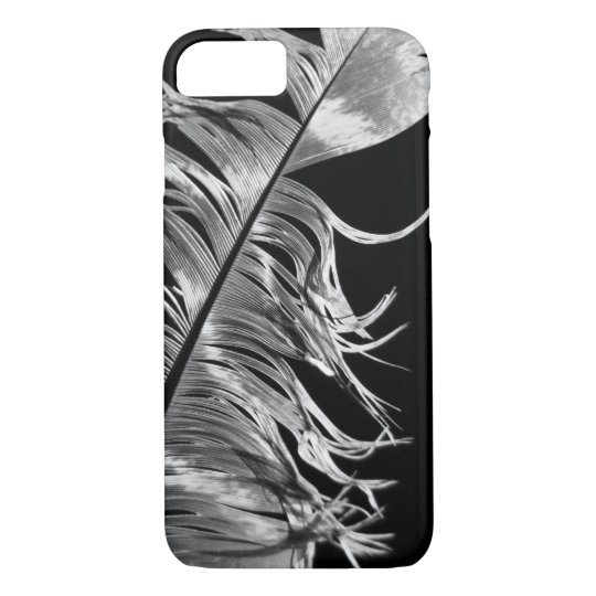 Black & White Photographic Feather Art iPhone 8/7