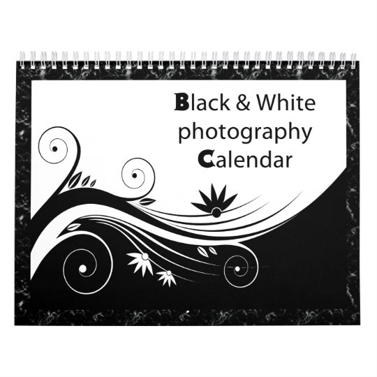 Black & white photography wall calendar