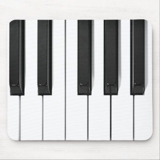 Black & White Piano Keyboard Design Mousepad