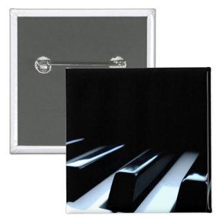 Black White Piano Keys Button