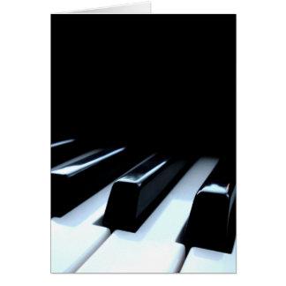 Black White Piano Keys Greeting Cards