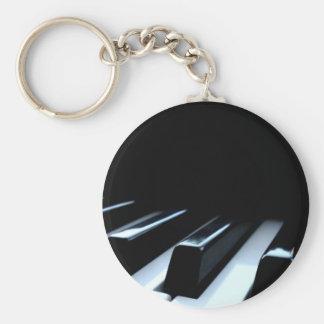 Black & White Piano Keys Key Ring