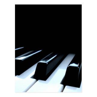 Black White Piano Keys Post Card