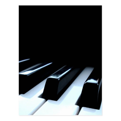 Black & White Piano Keys Post Card