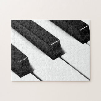 Black & White Piano Keys Puzzle