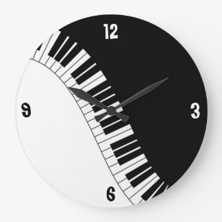 Black & White Piano Keys Wall Clock