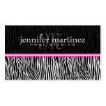 Black White & Pink Animal Print-Zebra Stripes