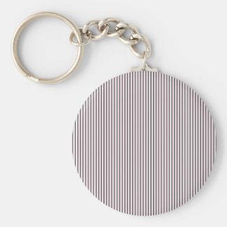 Black White Pink Stripes - Retro Pattern Key Chains