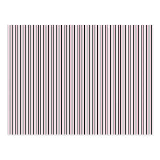 Black White Pink Stripes - Retro Pattern Post Cards