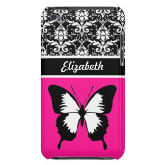Black & White & Pink with Wings Custom iPod Touch Cover