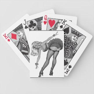 Black White PinUp Girl Retro Playing Card Game