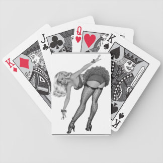Black White PinUp Girl Retro Playing Card Game Poker Deck