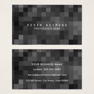 black & white pixels professional tech business card
