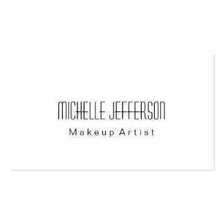 Black & White Plain Makeup Artist Business Card