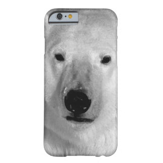 Black & White Polar Bear iPhone 6 Case Barely There iPhone 6 Case