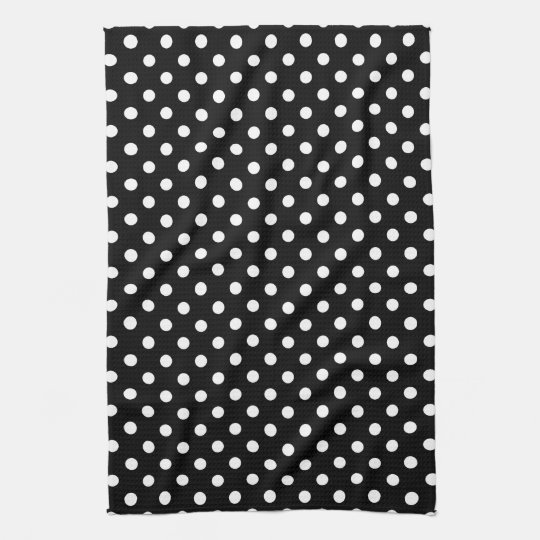 Black & White Polka Dot Kitchen Towels