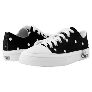 Black/White Polka Dot Low Tops