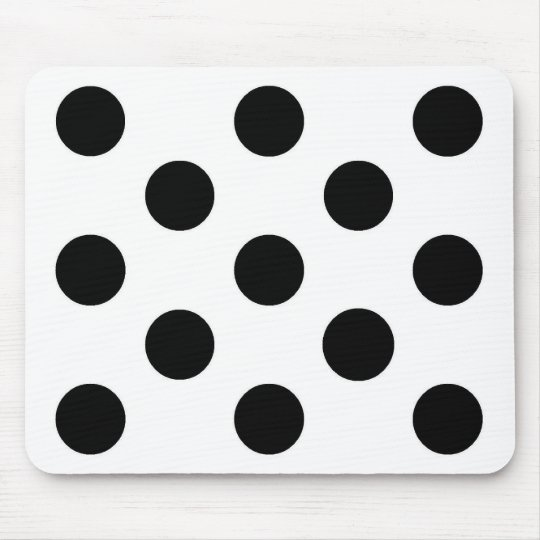 Black white polka dot - Mousepad