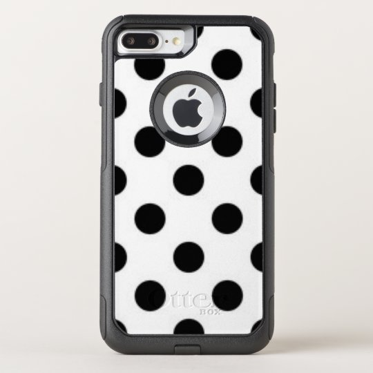 Black white Polka Dot Pattern Print Design OtterBox