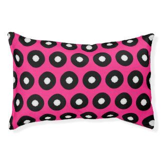 Black/White Polka Dot Pink Background (Changeable)