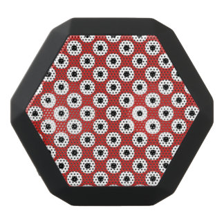 Black/White Polka Dot Red Background (Changeable) Black Bluetooth Speaker