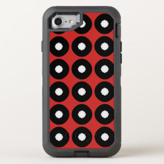 Black/White Polka Dot Red Background (Changeable) OtterBox Defender iPhone 7 Case