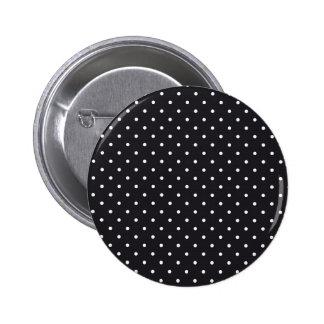 Black White Polka Dots 6 Cm Round Badge