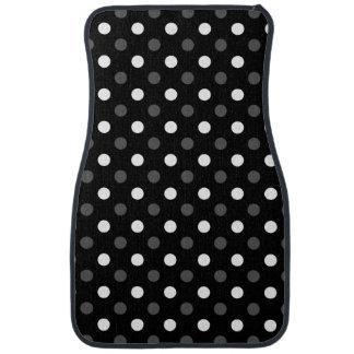 Black white polka dots car mat