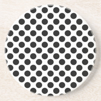 Black & White Polka Dots Drink Coasters