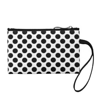 Black & White Polka Dots Coin Purse
