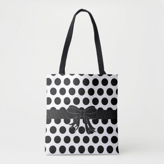 Black & White - Polka Dots - Handbag
