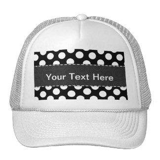 Black & White Polka Dots Trucker Hats