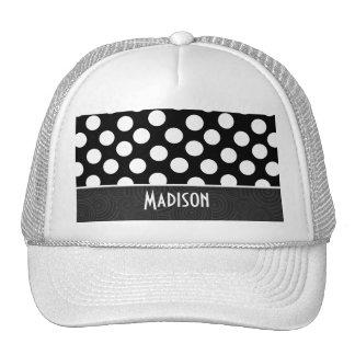 Black & White Polka Dots Mesh Hats