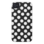 Black & White Polka Dots iPhone 4 Case